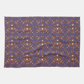 Queen of Hearts Gold Crowns Tiaras Ultra Violet Kitchen Towel