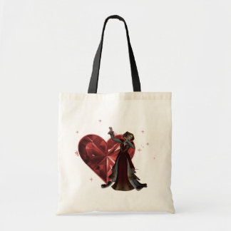 Queen Of Hearts & Heart Jewel - Red & Colour Tote Bag