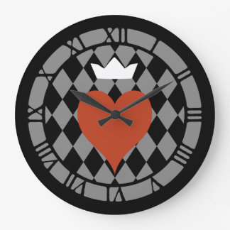 Queen Of Hearts Heart Wallclocks