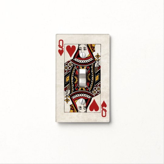 Queen Of Hearts Light Switch Cover