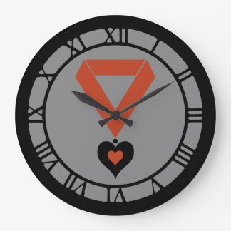 Queen Of Hearts Medallion Wall Clocks