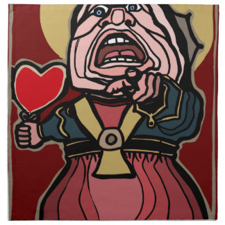 Queen of Hearts Napkin
