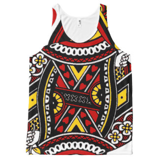 Queen of hearts pattern all over print All-Over-Print tank top