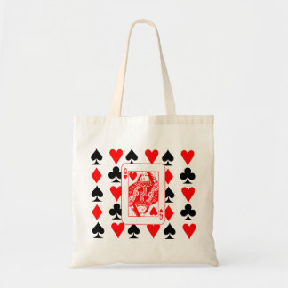 queen of hearts,poker tote bag