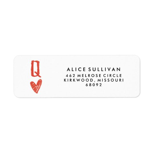 Queen of Hearts Return Address Labels