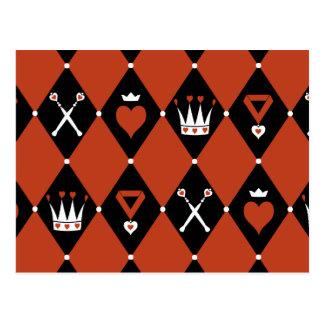 Queen of Hearts Royal Motifs Postcard