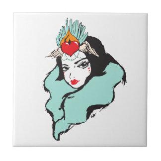 Queen of Hearts Series: Queen 1 Tile