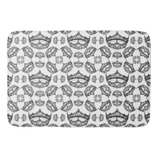 Queen of Hearts Silver Crowns Tiaras white bathmat