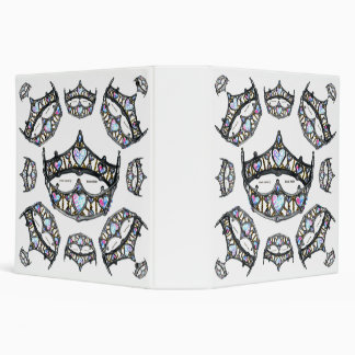 Queen of Hearts Silver Crowns Tiaras white binder