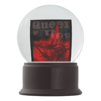 Queen of Hearts Snowglobe by Violet Tantrum
