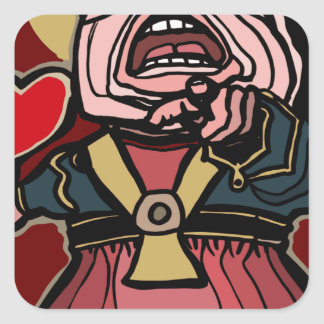 Queen of Hearts Square Sticker