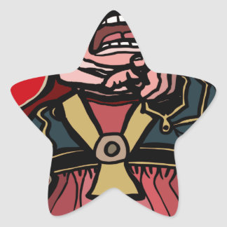 Queen of Hearts Star Sticker