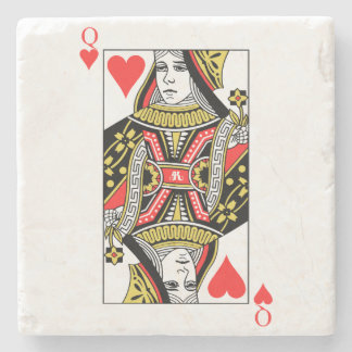 Queen of Hearts Stone Coaster