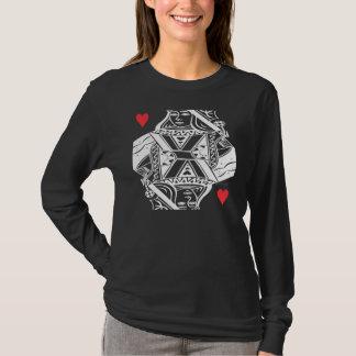 Queen of Hearts Vector Graphic T-Shirt