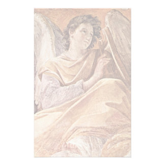 Queen Of Heaven And Detailed Musical Angels Personalized Stationery