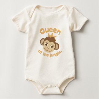 Queen Of Jungle Baby Bodysuit