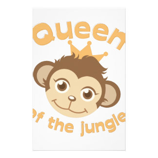 Queen Of Jungle Customized Stationery