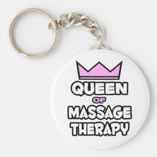 Queen of Massage Therapy Key Chains
