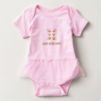 Queen of my heart gorgeous and unique baby tutu baby bodysuit