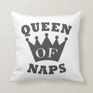 Queen of Naps Throw Pillow