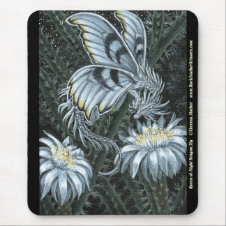 Queen of Night Cactus Dragon Fly Mousepad