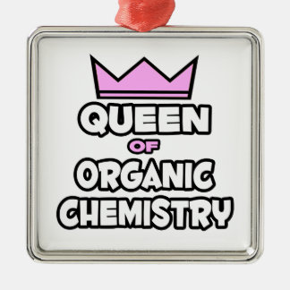 Queen of Organic Chemistry Metal Ornament