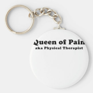 Queen of Pain aka Physical Therapist Basic Round Button Keychain