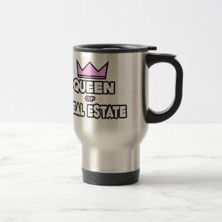 Queen of Real Estate Travel Mug