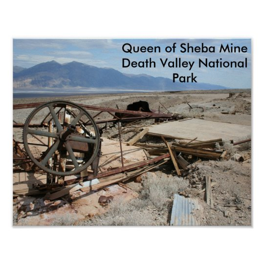 Queen of Sheba Mine - Death Valley National Park Poster