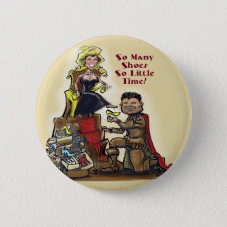 Queen of Shoes 2 Inch Round Button