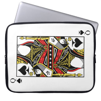 Queen of Spades - Add Your Image Laptop Sleeve