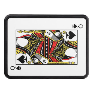 Queen of Spades - Add Your Image Trailer Hitch Cover