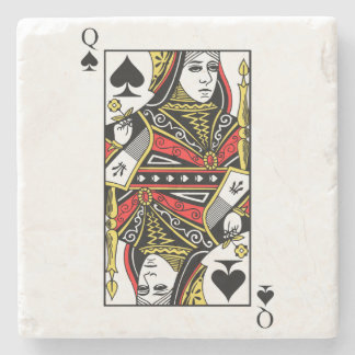 Queen of Spades Stone Coaster