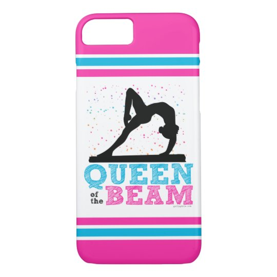 Queen of the Beam Gymnastics by Golly Girls iPhone 8/7 Case