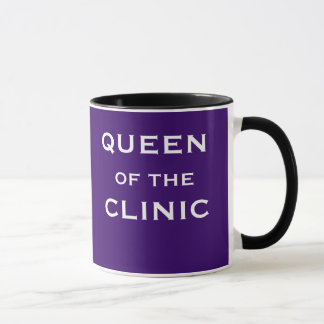 Queen of the Clinic Funny Female Doctor Name Mug