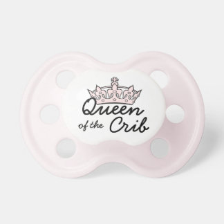 """Queen of the Crib"" Baby Girl Pacifier"