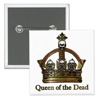 Queen of the Dead Skull Crown 2 Inch Square Button