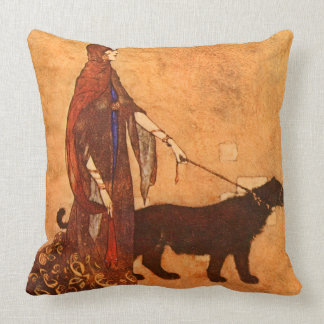 Queen of the Ebony Isles Edmund Dulac Fine Art Throw Pillow