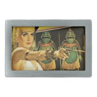 Queen of the Frog Men Belt Buckle