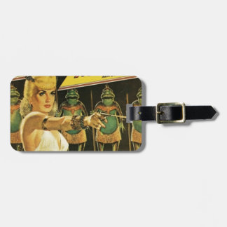 Queen of the Frog Men Luggage Tag