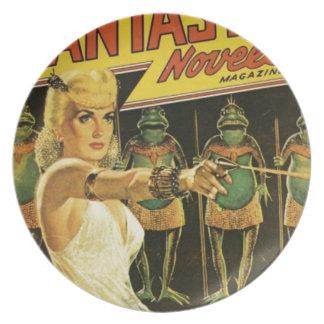 Queen of the Frog Men Plate