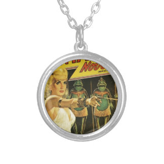 Queen of the Frog Men Silver Plated Necklace