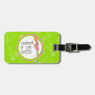 Queen of the Green golf bag tag