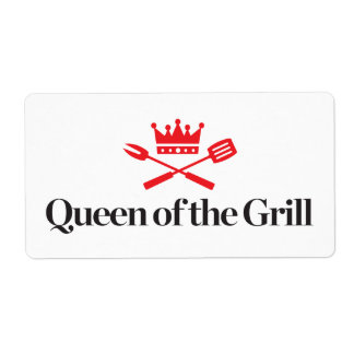 Queen of the Grill Shipping Label