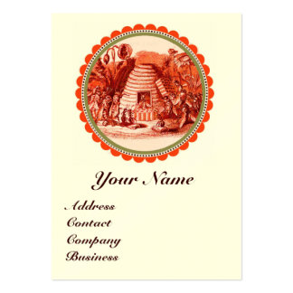 QUEEN OF THE HONEY BEES  IN SKEP / BEEKEEPER LARGE BUSINESS CARD