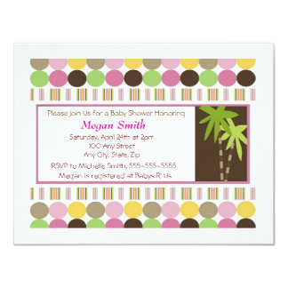 Queen of The Jungle Baby Shower Invitation