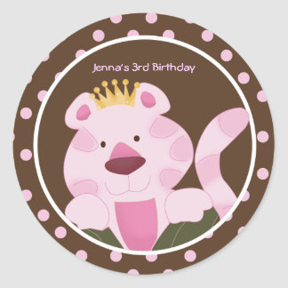 Queen of the Jungle Envelope Seals Favor Stickers