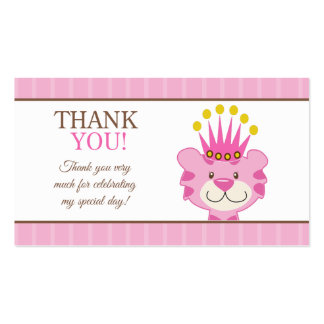 Queen of the Jungle Tiger Favor Thank You Business Card Templates