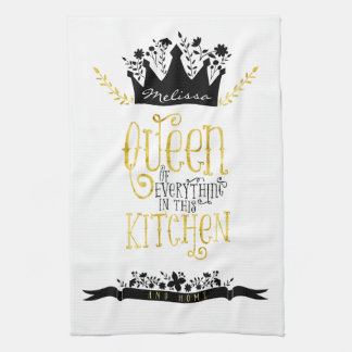 Queen of the Kitchen | Gold & Black Kitchen Towel