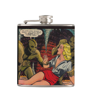 Queen of the Lizard People - Comic Cover Hip Flask